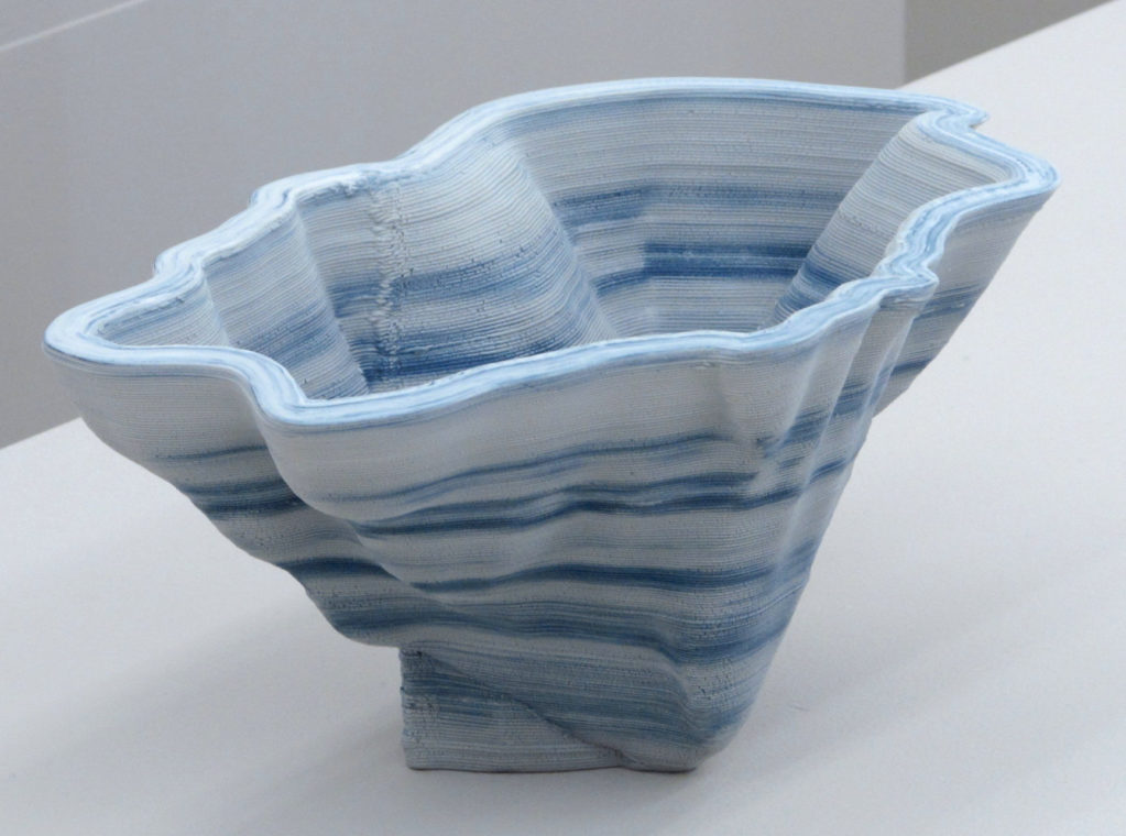 berg|see 2017 • ceramics-3d-print with colored porcelain, 13 x 28 x 17.5 cm