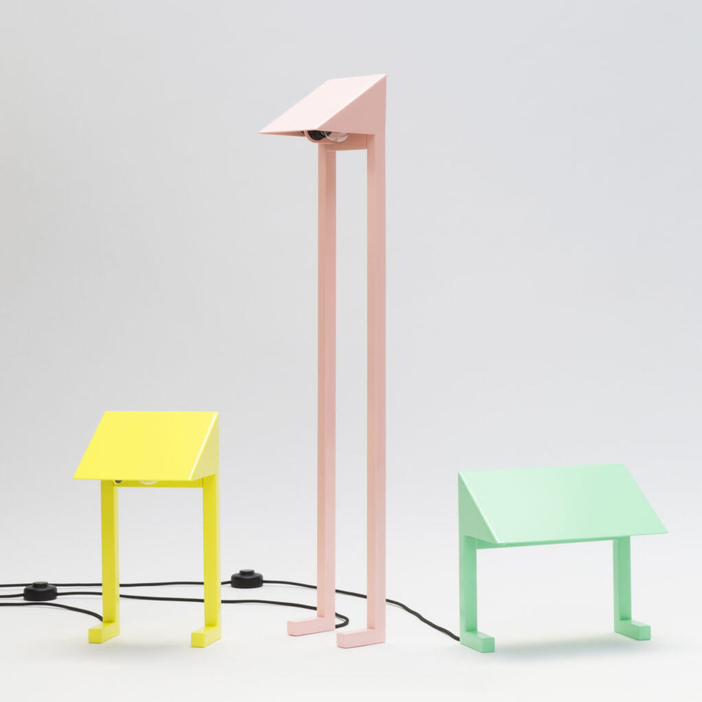 Lamp FLAMINGO, UHU, SCOTCH, 2020 • Steel powder-coated with E27 socket and cable