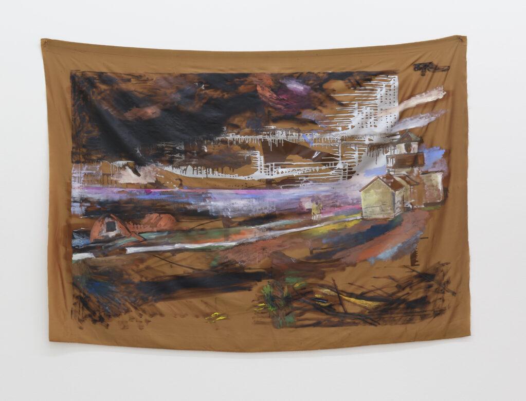 Point no Point, 2020 • oil paint und enamel on fabric, 145 x 195 cm