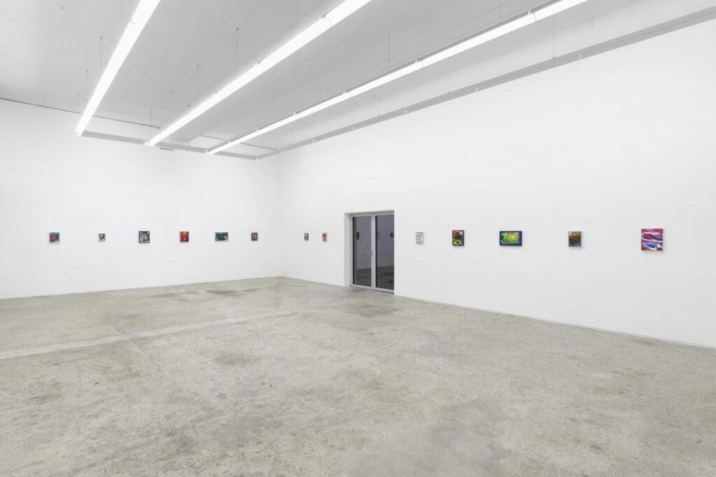 Exhibition view • «Transmission Christine Streuli and her guests: Marta Djourina, Hannah Sophie Dunkelberg, Marlen Letetzki», 2021